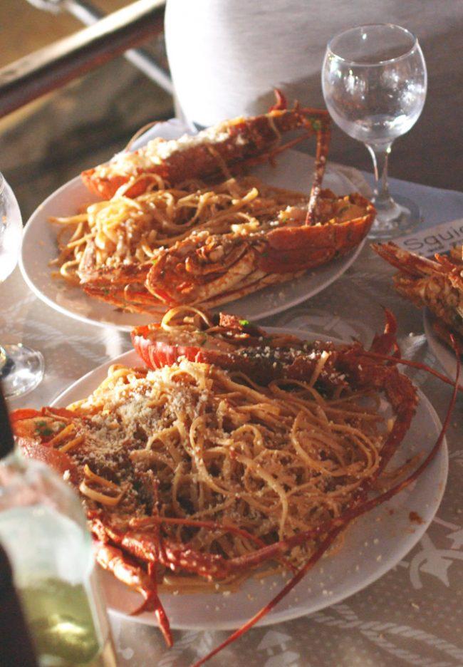 Spaghetti lobster